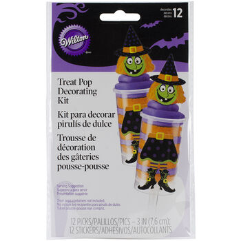 Treat Pop Decorating Kit Makes 12-Witch