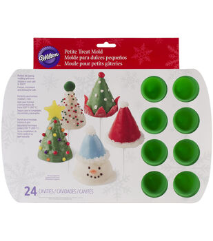 Wilton® Mini Silicone Mold-Mini 3D Cone 24 Cavity