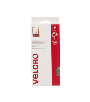 VELCRO® Brand Thin Clear 5'x3/4' in Tape - Clear