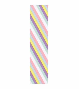 1 And Half In Asym Stripe Pastel Multi