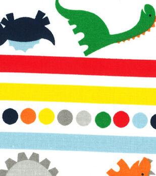 Nursery Fabric - Dino Stripes