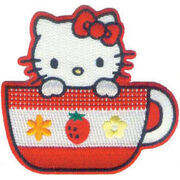 C, Visionary Hello Kitty Patches Tea Cup, , hi-res