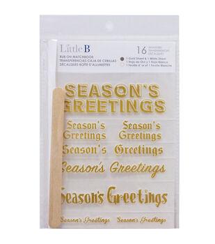 Little B 2ct Rub-Ons-Season's Greetings