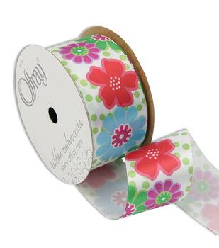 "Offray Tween Floral 1-1/2"" Ribbon"