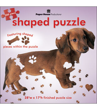 Paper House Jigsaw Shaped Puzzle Dachshund