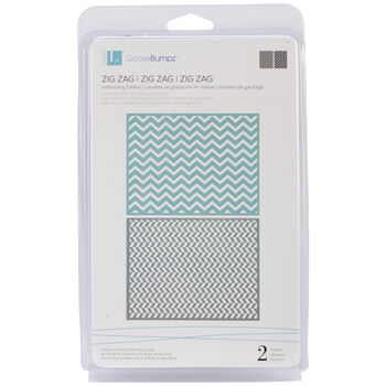 We R Memory Keepers Goosebumpz A2 Embossing Folders Zigzag