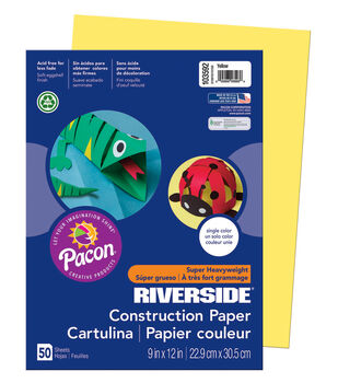 Busy Kids Learning Riverside Construction Paper-Yellow