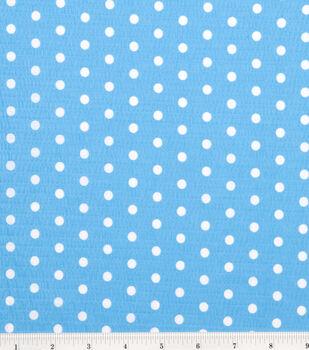 Tutti Fruitti Collection-Large Polka Dot Turquoise/White