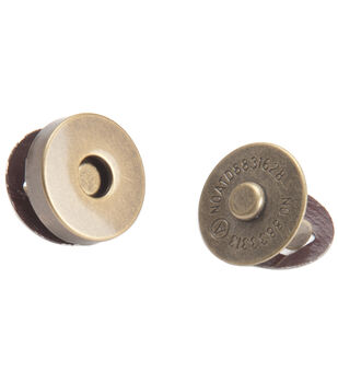 Bag Works Magnetic Purse/Tote Snap 1/Pkg-Antique