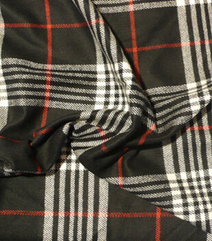 Perfectly Plaid Fabric-Acrylic Black Red White