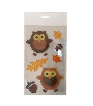 Art of Autumn Gel Cling-Owl
