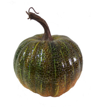 Blooming Autumn Crackle Pumpkin-Green