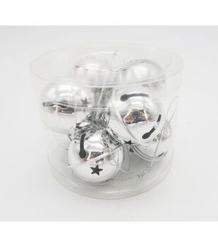 Maker's Holiday 8ct Large Jingle Bells-Silver