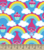 Dreamworks Trolls Poppy Rainbow Flannel Fabric, , hi-res