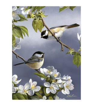 "Paint By Number Artist's Collection 9""X12""-Spring Chicadee"