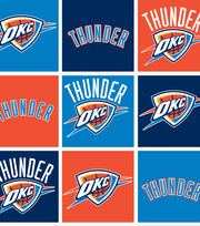 Oklahoma City Thunder NBA  Fleece Fabric, , hi-res