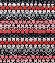 Alexander Henry Cotton Fabric-Hearts + Bones Black, , hi-res