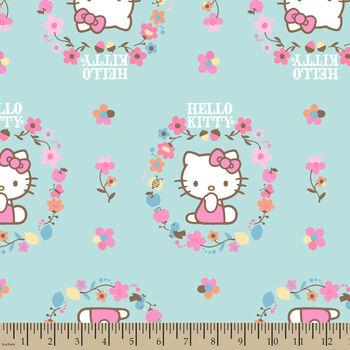 Nursery Fabric- Hello Kitty Fall Flower Fancy