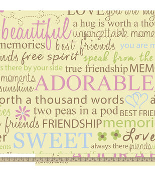 Anti-Pill Fleece Fabric-Friendship Quotes