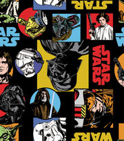 Star Wars Cartoon Characters Fleece Fabric, , hi-res