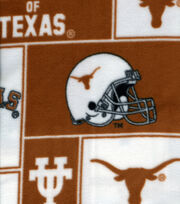 University of Texas NCAA Block Fleece Fabric, , hi-res