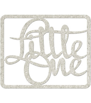 Fabscraps Little One Die-Cut Gray Chipboard Word