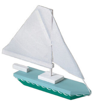 Darice Wood Model Kit-Sailboat