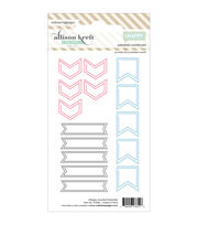 Webster's Pages #HAPPY Arrows, Flags & Banners Shaped Paper Clips, , hi-res