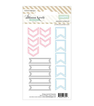 Webster's Pages #HAPPY Arrows, Flags & Banners Shaped Paper Clips