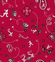 University of Alabama NCAA Bandanna Print Cotton Fabric, , hi-res