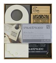 """Inkadinkado Stamping Kit 6""""X7""""-Wine Bottle Tag, , hi-res"""