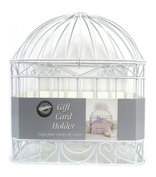 Wilton® Wedding Reception Gift Card Holder Cage-White