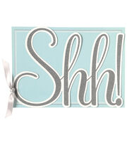 Anna Griffin Shh Die Cut Word Custom Invitation, , hi-res