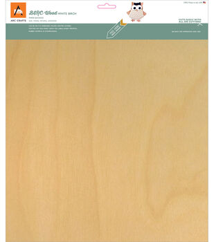 Arc Crafts BARC Wood Sheet With Paper Backing 12''x12''