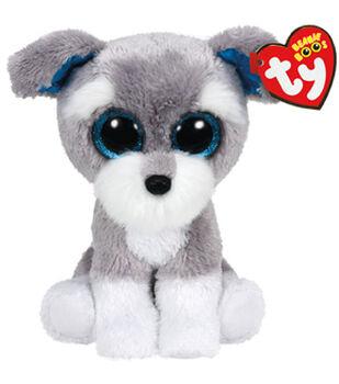 TY Beanie Boo Whiskers Grey Schnauzer Dog