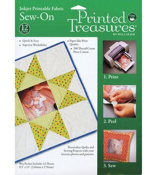 Prym Dritz Printed Treasures Inkjet Printable Fabric Sew-On White