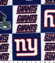 New York Giants NFL Fleece Fabric by Fabric Traditions, , hi-res