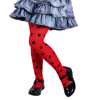 Maker's Halloween Children's Tights-Ladybug