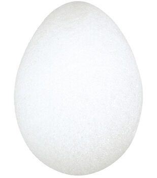 "Floracraft Styrofoam Eggs 3-3/16""X2-13/16"" 2Pk-White"
