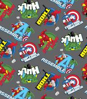 Marvel's The Avengers Round Badge Fleece Fabric, , hi-res