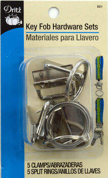 Key Fob Hardware Sets Bonus Pack-Silver