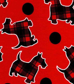Snuggle Flannel Fabric-Plaid Scotties