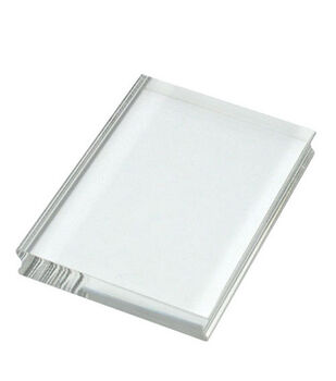 "Perfectly Clear 4""x3"" Stamp Block-Medium Rectangle"