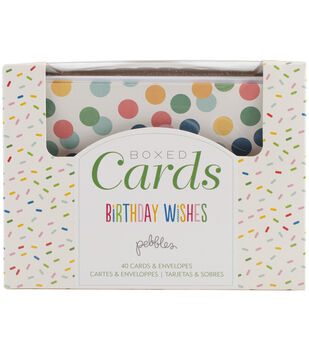 Pebbles Birthday Wishes A2 Cards & Envelopes
