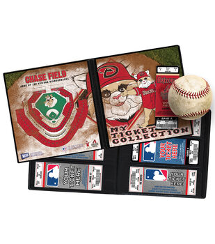 "Arizona DiamondbacksMLB Mascot Ticket Album 8.25""X8.75"""