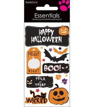 "Essentials Dimensional Stickers 2.25""X5"" Sheet-Happy Halloween"