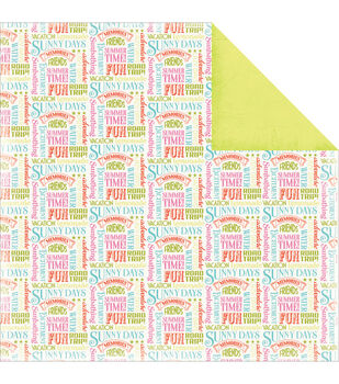 Carta Bella Summer Lovin' Summer Words Double-Sided Cardstock Paper
