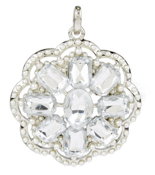 Cluster Pendent Pearl Crystal