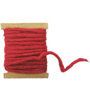 Feltworks Pencil Roving 5yd-Red