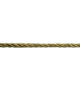 "5""/16"" Gold Metallic Cord Apparel Trim"